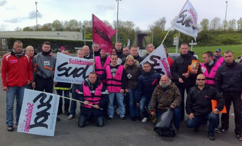 Nos Camarades En Lutte Agents De Securite Incendie ASI Main A Qui Eurotunnel Confie Decembre La Sont Greve Depuis